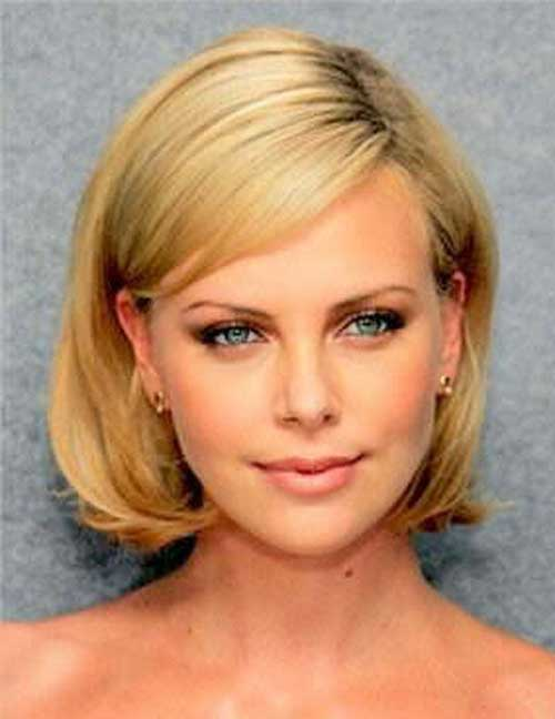 Casual Bob Hairstyles for Round Faces
