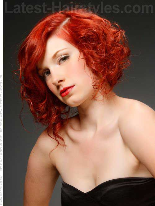 Curly Red Hairstyles Bob