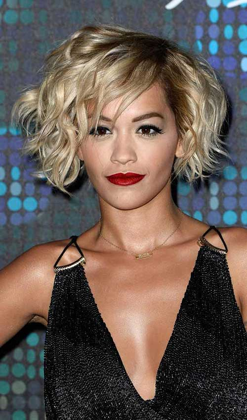 Curly Shaggy Short Bob Hair