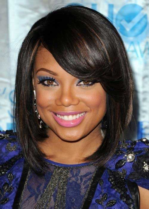Cute Black Bob Haircuts for Round Faces