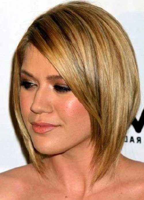 Cute Bob Thin Haircuts for Round Faces