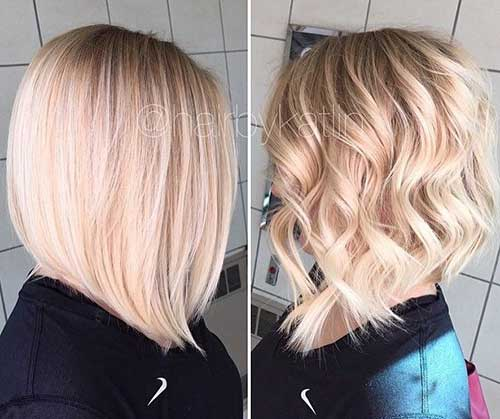 Different Long Angled Bob Haircuts