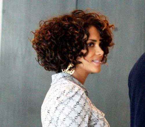 Halle Berry Curly Bob Hairstyles