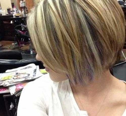 Highlighted Styles for Bob Cut Hair