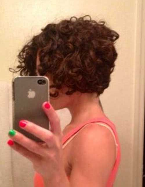Inverted Curly Bob Hair Cuts