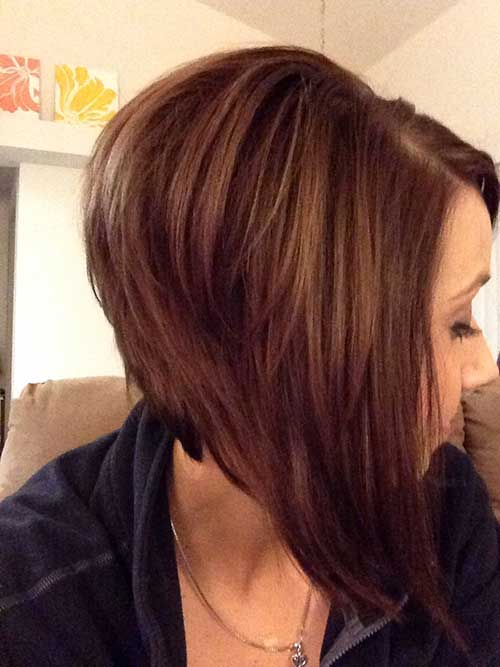 Inverted Layered Bob Hairstyles