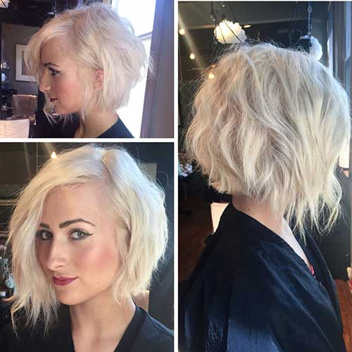 Inverted Wavy Bob Hair Cuts
