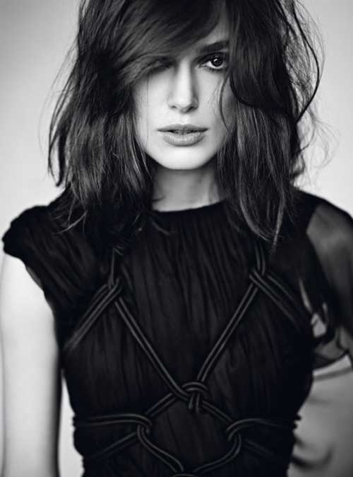 Keira Knightley Long Bob with Bangs
