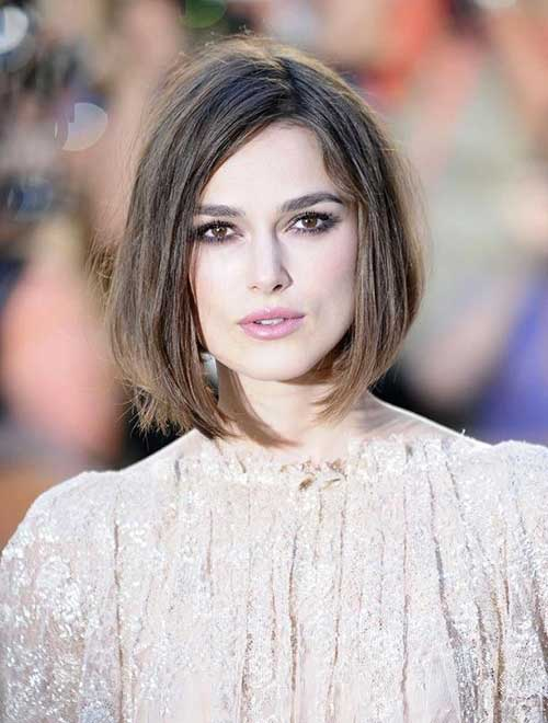 Kiera Knightley Straight Inverted Bob Haircuts