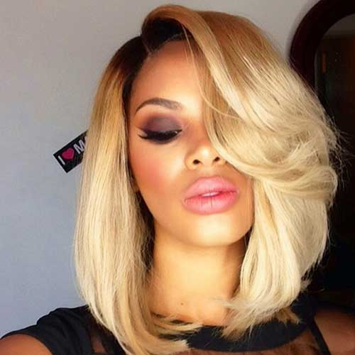 Straight Layered Blonde Bob Weave
