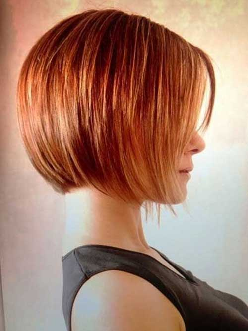 Layered Red Bob Hairstyles