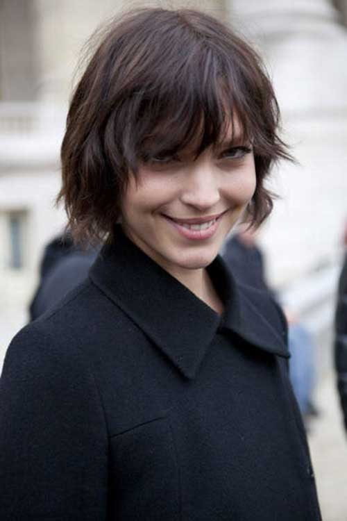 Layered Shaggy Bob with Bangs