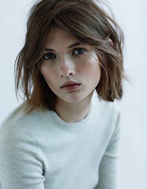 Messy Brown Hair Bob Hairstyles