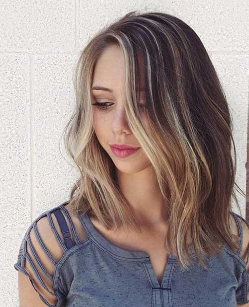 Nice Blonde Bob Balayaged Hair
