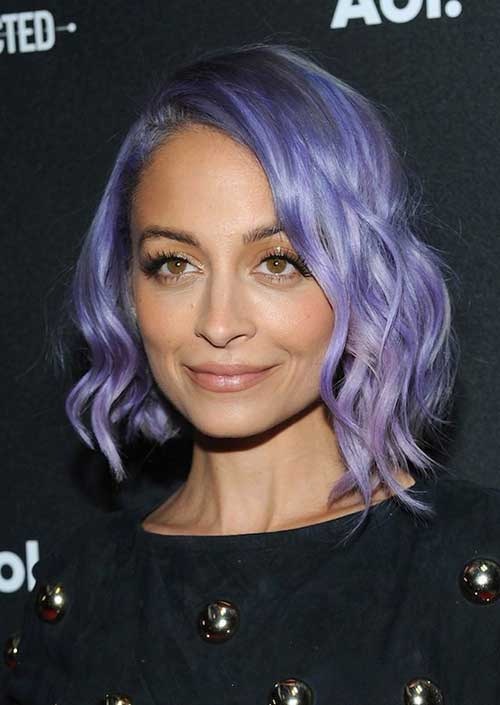 Nicole Ritchie Pastel Hair Color Bob