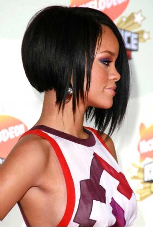 Rihanna Line Bob Cut