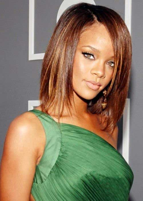 Rihanna Long Bob Cut