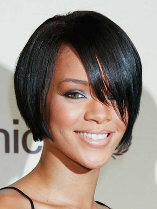 Rihanna Straight Bob Cut