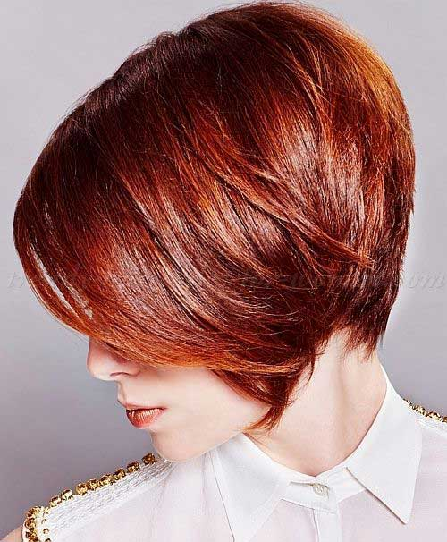 Short Bob Haircuts Red Color