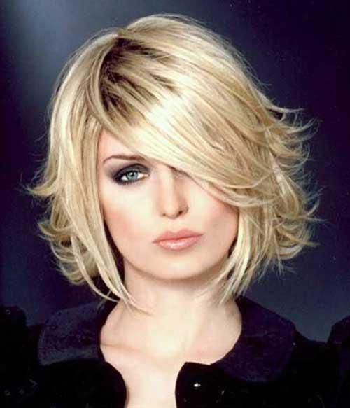 Short Layered Blonde Bob Hairstyles