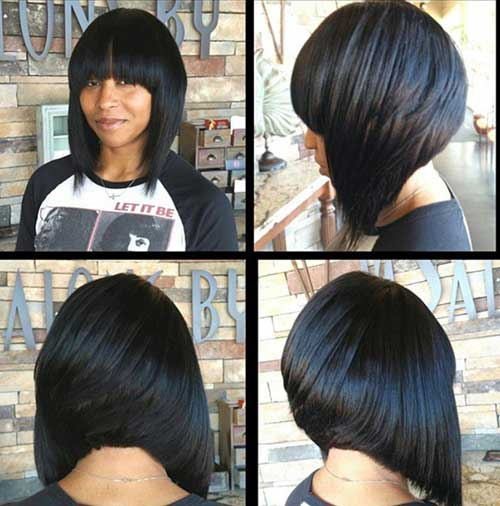Inverted Bob Quick Weave Short Hairstyle