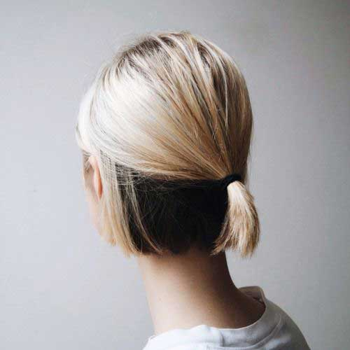Sleek Half Ponytail Bob Cut