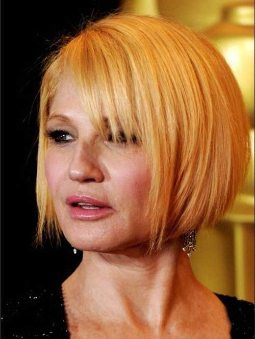 Straight Bob Cuts for Older Women