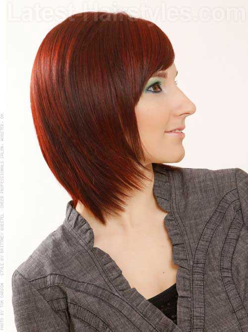 Tapered Long Bob Haircuts