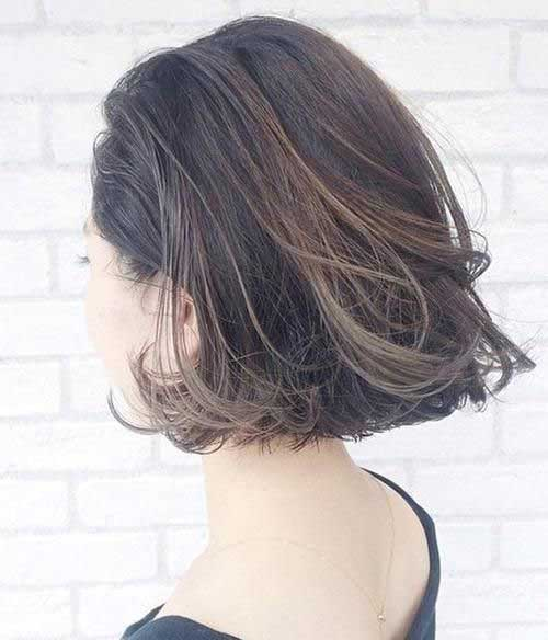 Textured Dark Bob Hairstyle