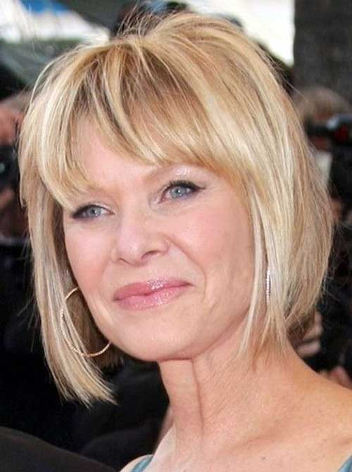 Thin Bob Hairstyles for Older Ladies