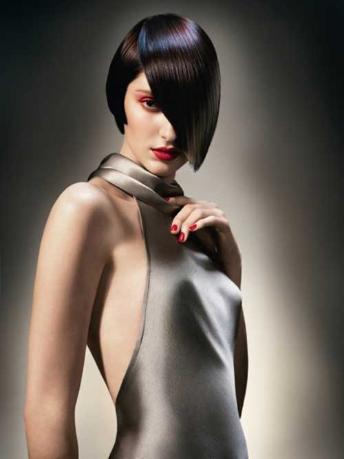 Vidal Sassoon Asymmetrical Bob Haircuts