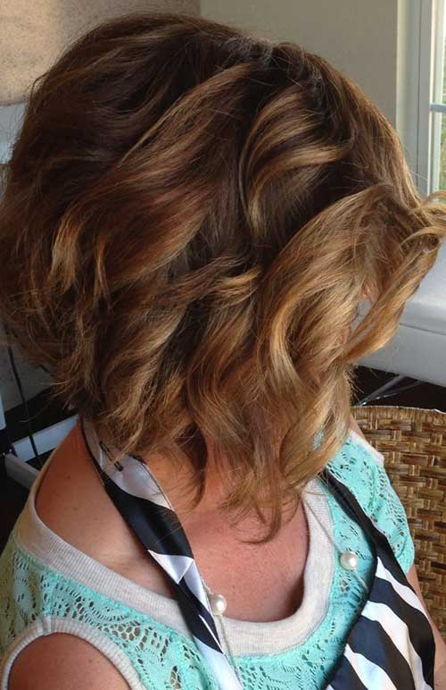 Stacked Wavy Bob Cut for Girls