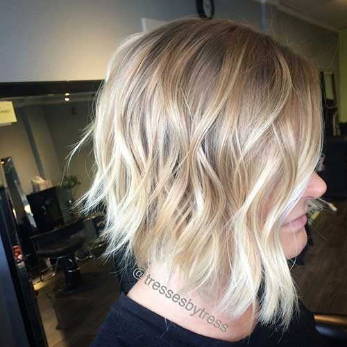 Stylish Wavy Bob Cut