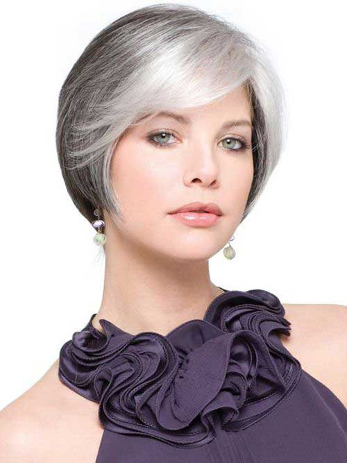 White Hair Bob Hairstyles for Women