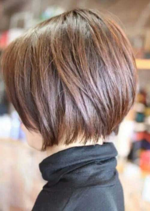 Woman with Short Graduated Bob Hairstyles
