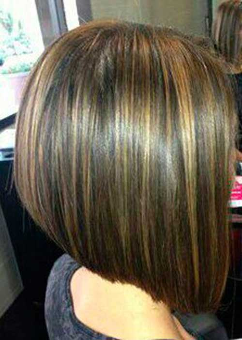 Brunette A Line Bob Hair Color Ideas And Styles For 2018