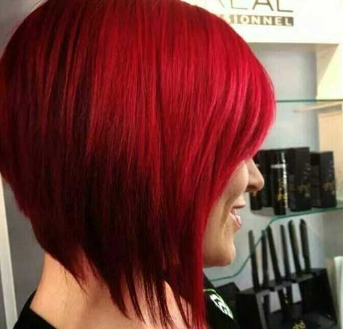 Bright Red New Bob Hairstyles