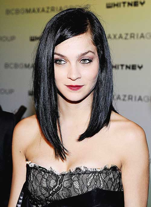 Dark Inverted Bob Cut Images