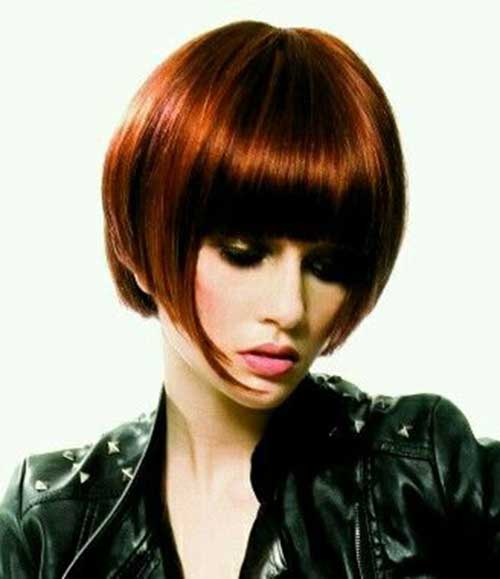 French Red Bob Hairstyles