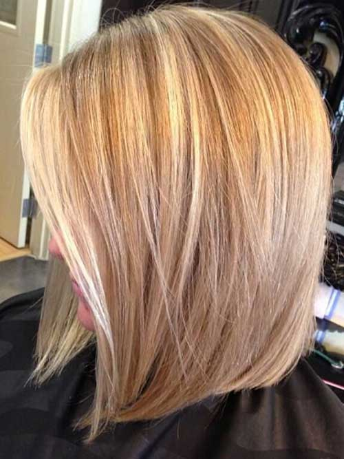 Highlighted Layered Razored Bob Hair