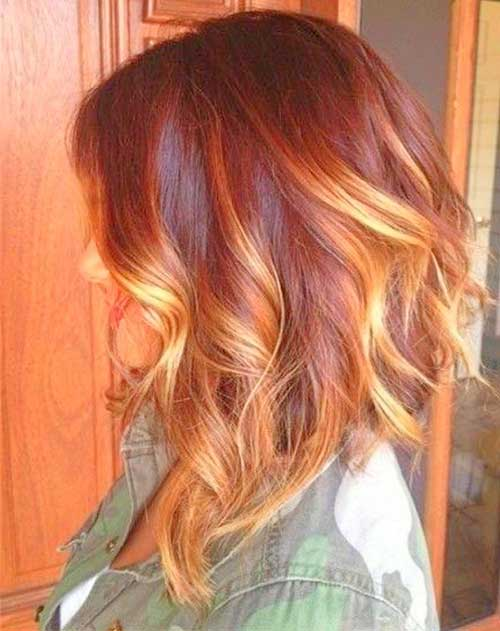 Long Wavy Ombre Bob Hair Color