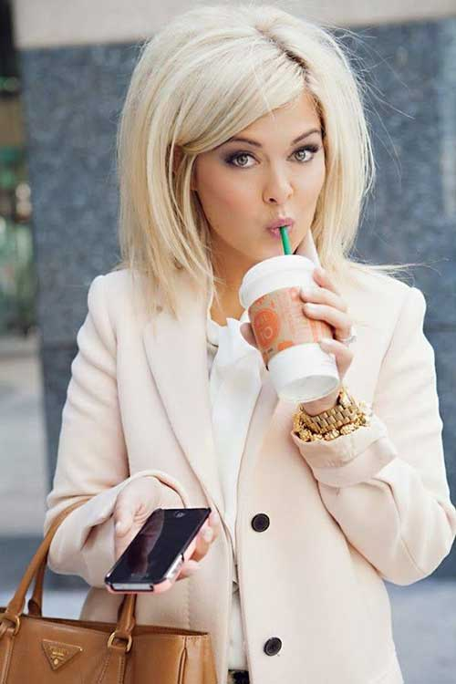 Long Platinum Blonde Bob Hair Color Ideas