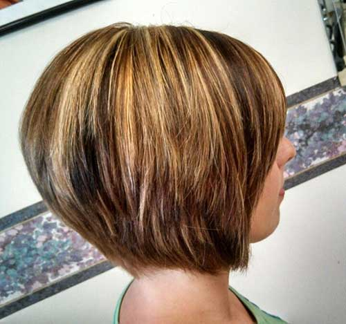 Short Highlighted Bob Hairstyles