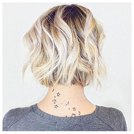 Textured Bob and Balayage Hair