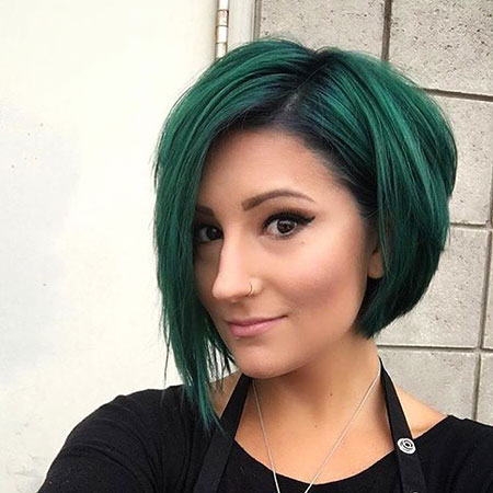 Green Bob Hair