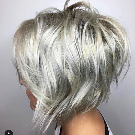 Layered Silver Hair