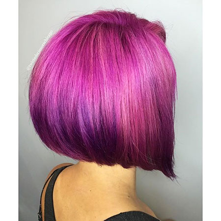 Purple Bob Hair