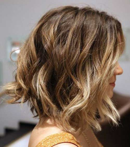 Beach Waves Long Bob Hairstyles