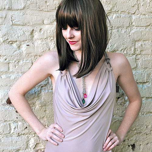 Cute Long Bob Haircuts with Bangs
