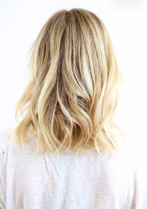 Blonde Long Bob Back View